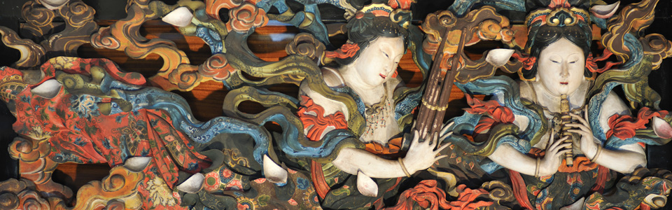名匠、石川雲蝶の数多くの作品を展示。参詣に是非お越しください。